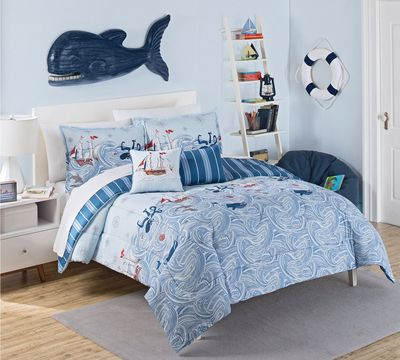 Ride the Waves Reversible Comforter Set