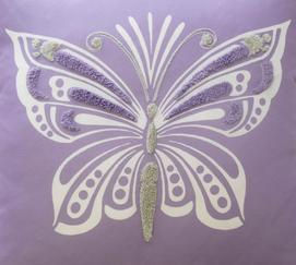Ipanema Butterfly Decorative Pillow