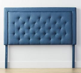 Rectangle Diamond-Tufted Headboard