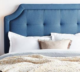 Scooped Squared-Tufted Headboard