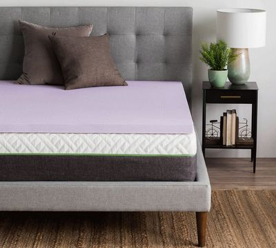 "2"" Lavender Memory Foam Mattress Topper"