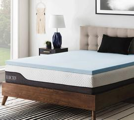 "2"" Gel Memory Foam Mattress Topper"