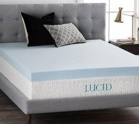 "4"" Gel Memory Foam Mattress Topper"