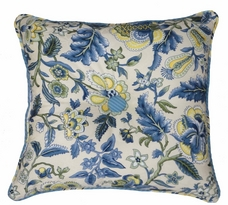 Waverly Imperial Dress Garden Path Square Button Tufted Pillow