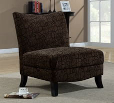 Monarch Swirl Fabric Accent Chair