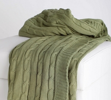 Rizzy Home Luxury Cable Knit Throw