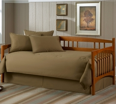 Solid Khaki 5pc Daybed Set
