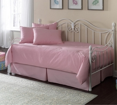 Solid Pink 5pc Daybed Set