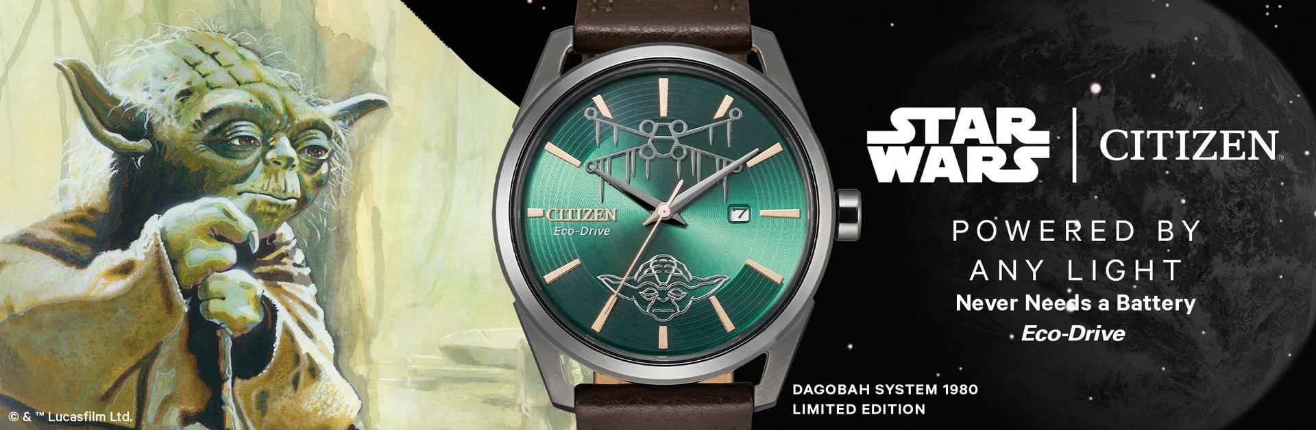 citizen star wars watches, yoda watch