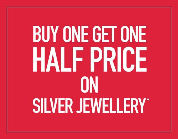 Buy One Get One Half Price On Silver Jewellery - Shop Now