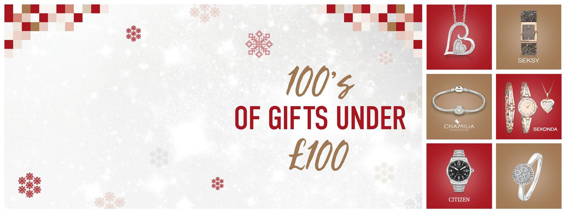 Hundred's of Gifts Under £100 - Shop Now