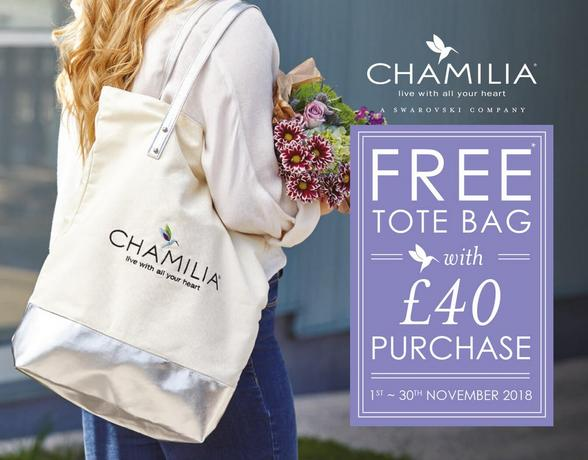 Free Tote Bag With £40 Chamilia Purchase - Shop Now
