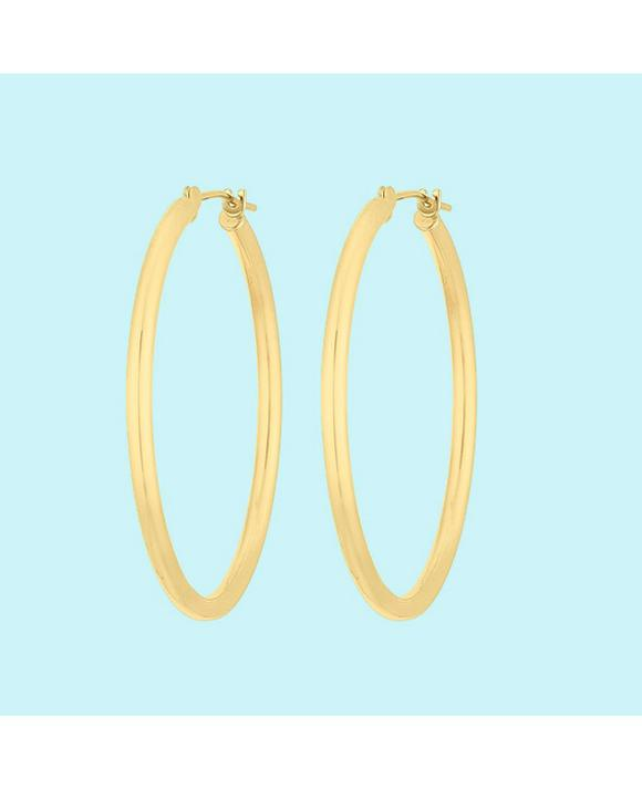 9ct Yellow Gold Creoles Hoop Earrings