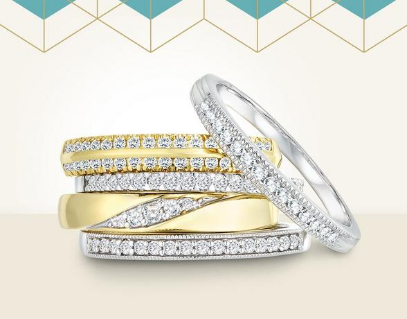 Diamond Set Wedding Rings - Shop Now