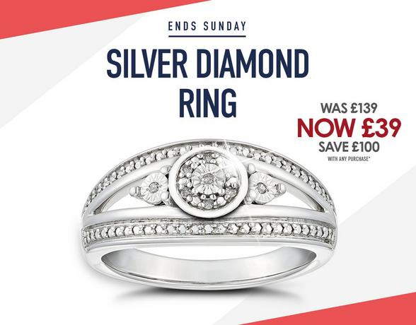 Silver Diamond Eternity Ring Offer - Shop Now