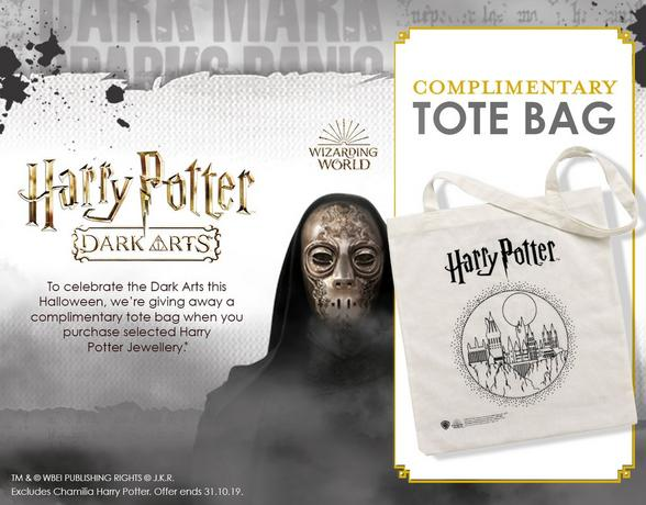Harry Potter Jewellery - Complimentary Tote Bag - Shop Now
