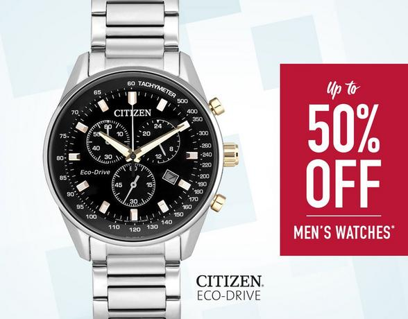 Up To 50% Off Men's Watches - Shop Now
