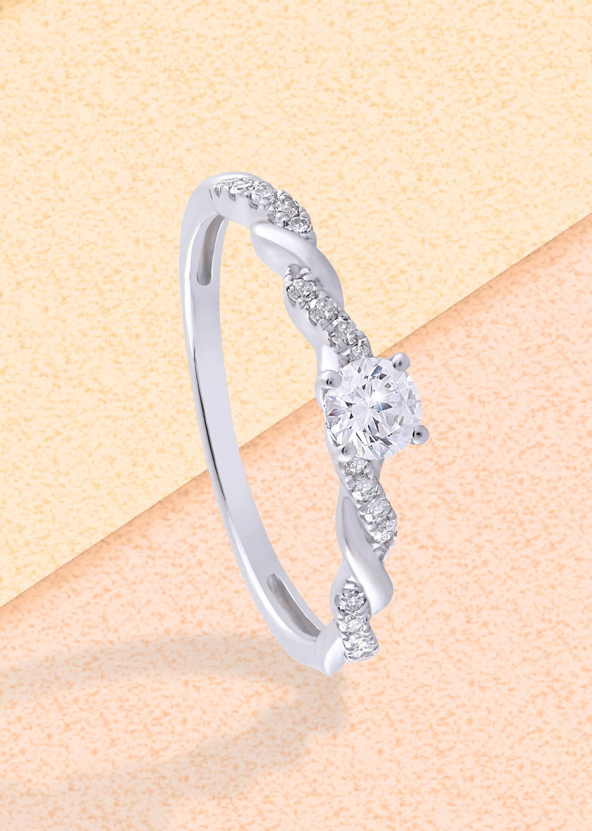 1. Diamond twist engagement ring