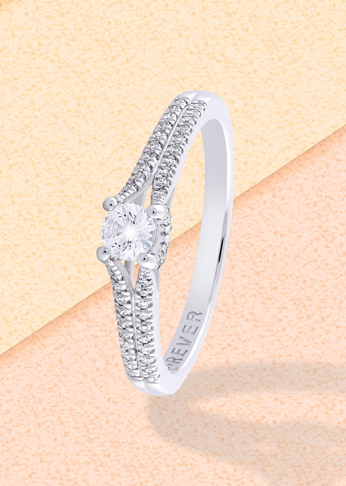 Split shank engagement ring