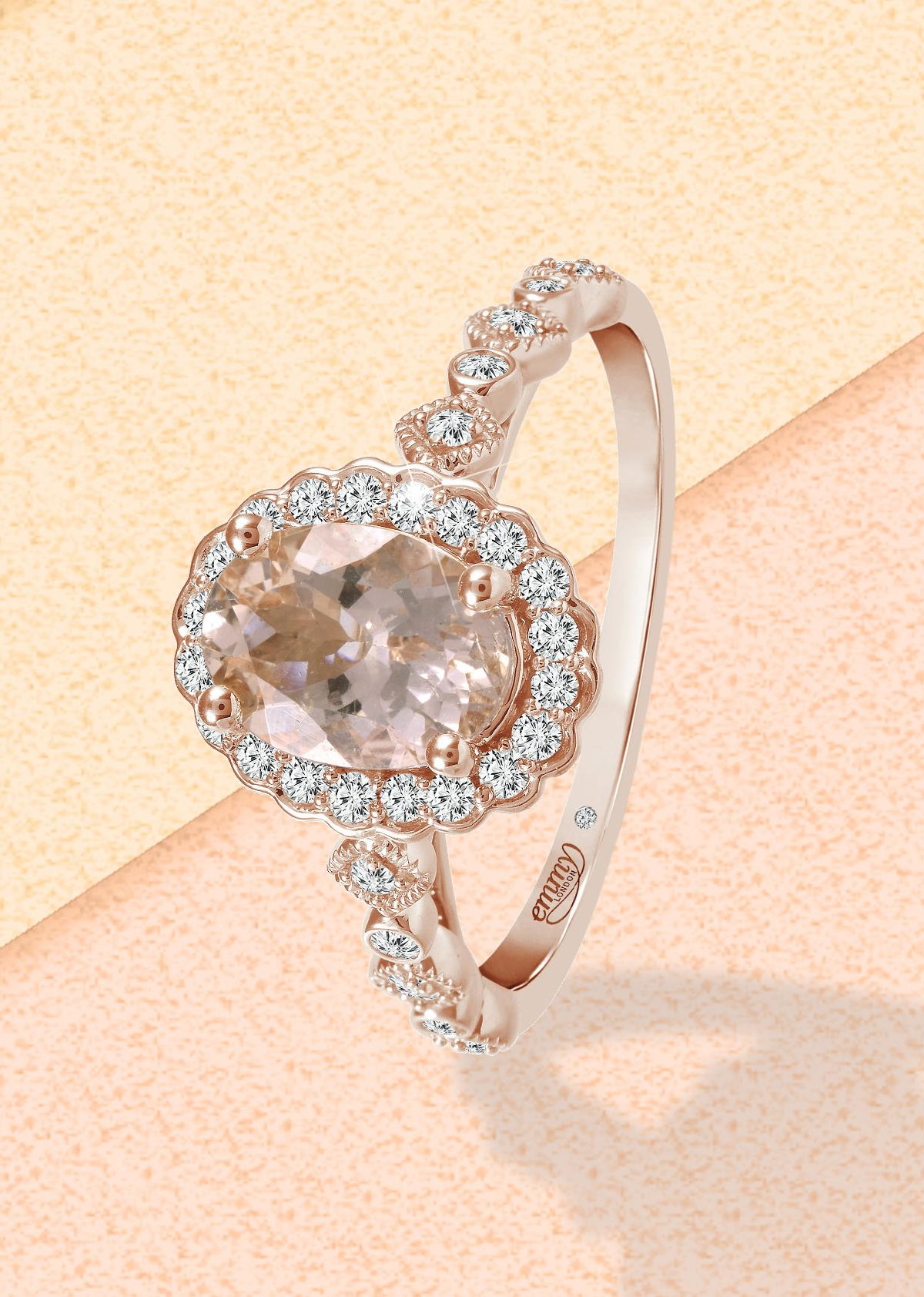 engagement ring morganite