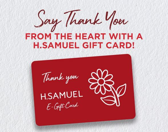 h.samuel thank you e-gift card