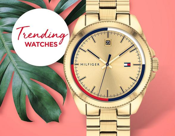 trending watches, gold tommy hilfiger watch