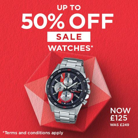 up to 50% off on selected watches