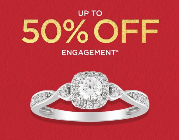 up to 50% off engagement rings