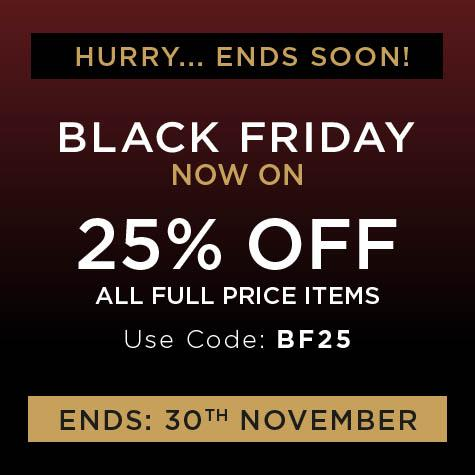 black friday now on, 25% off all full price