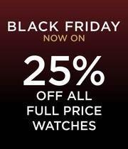 black friday, up to 25% off watches