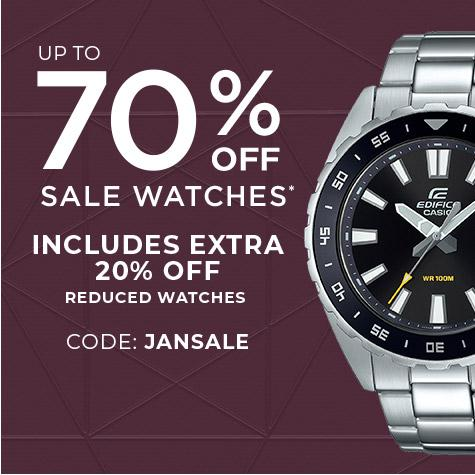 up to 60% off on selected watches