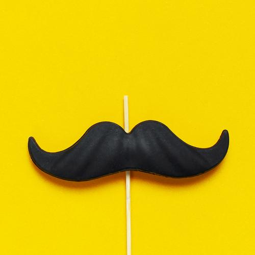 mustache on a yellow background