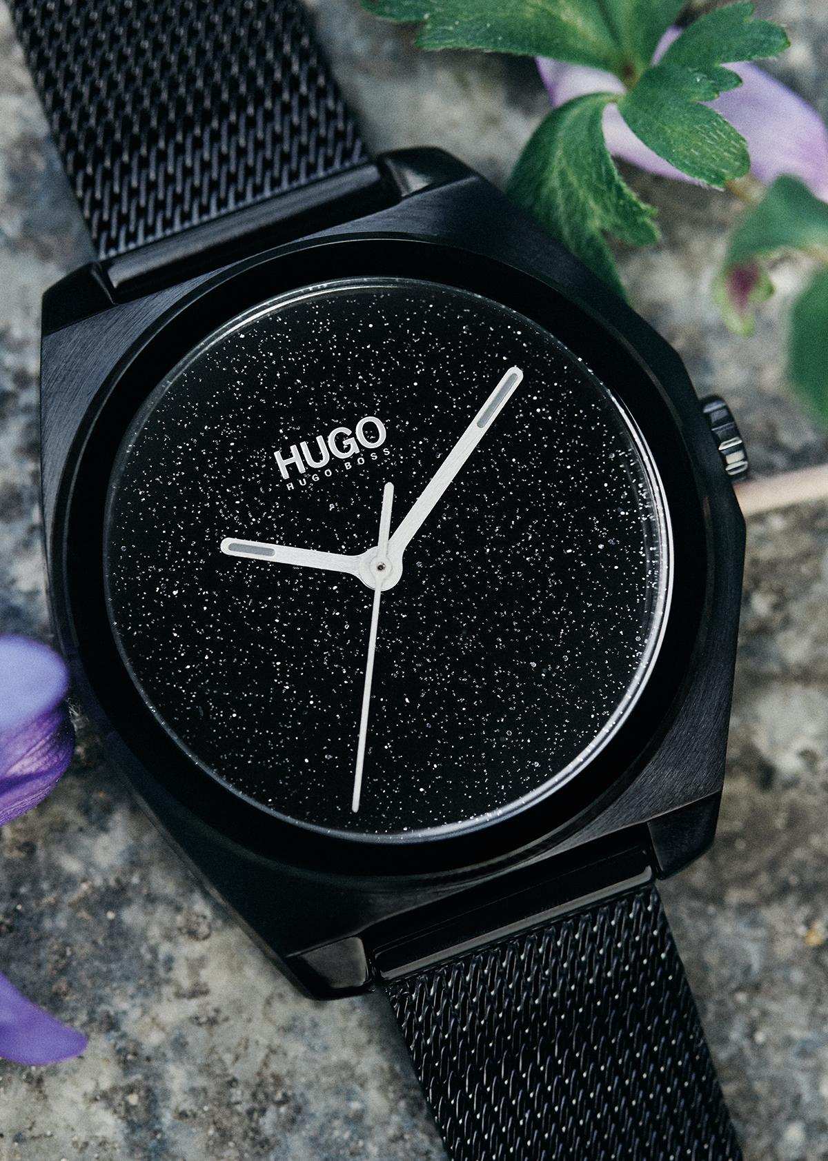 HUGO Imagine Ladies' Black IP Mesh Watch