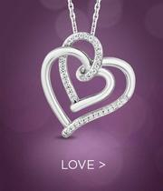 dual love heart necklace
