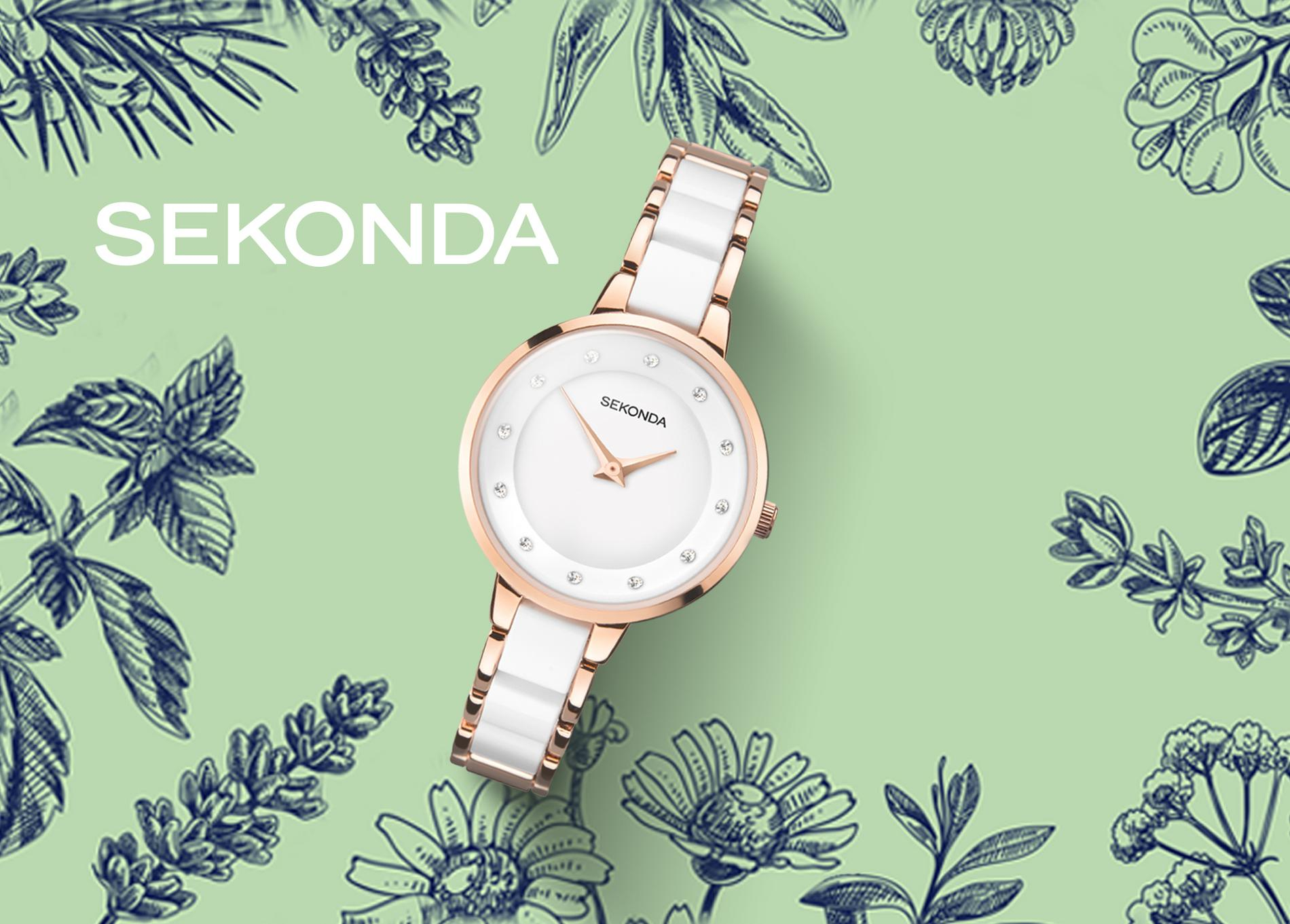 Sekonda Ladies' Rose Gold & White Bracelet Watch
