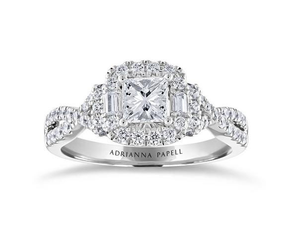 silver diamond enagement ring