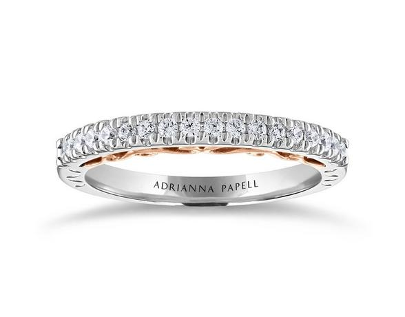 silver diamond wedding ring