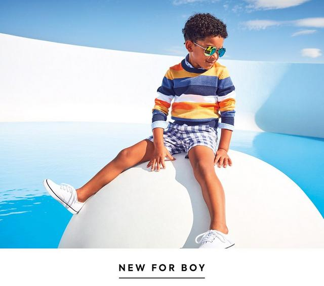 Sky's the limit. Reach new heights in a fresh take on stripes and classic navy. Shop the new collection for boy.