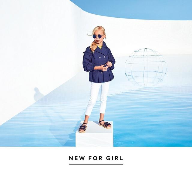 Sky's the limit. Reach new heights in a fresh take on florals and classic navy. Shop the new collection for girl.