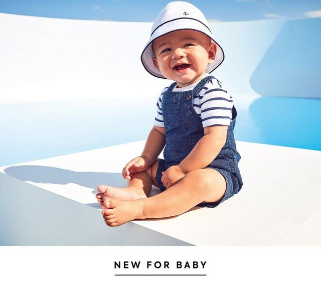 Sky's the limit. Reach new heights in a fresh take on florals and classic navy. Shop the new collection for newborn.