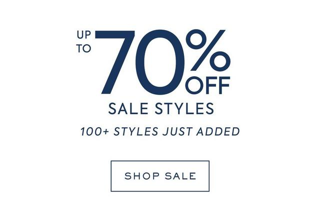 up to 70% off new sale styles