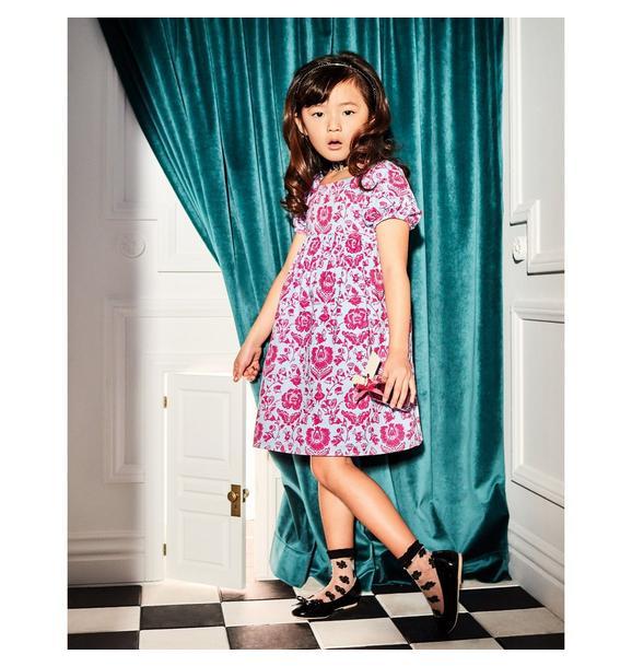 Disney Alice in Wonderland Floral Puff Sleeve Dress