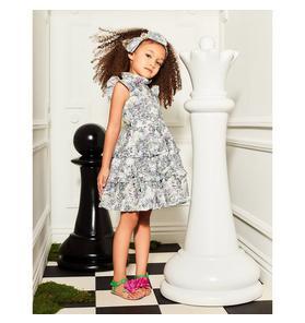Disney Alice in Wonderland Floral Ruffle Dress