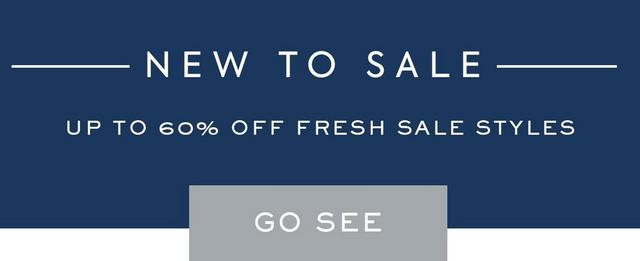 New to Sale | Up to 60% off fresh sale styles