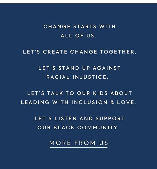 Change starts with all of us.