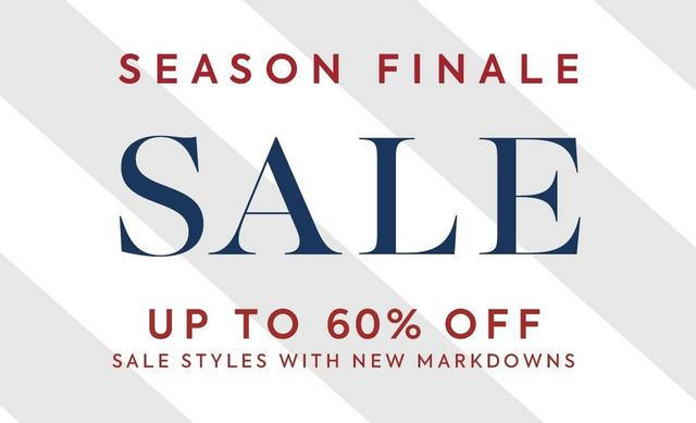 SEASON FINALE SALE UP TO 60% OFF SALE STYLES WITH NEW MARKDOWNS. SHOP SALE.
