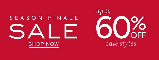 Season Finale Sale | Up to 60% off select styles