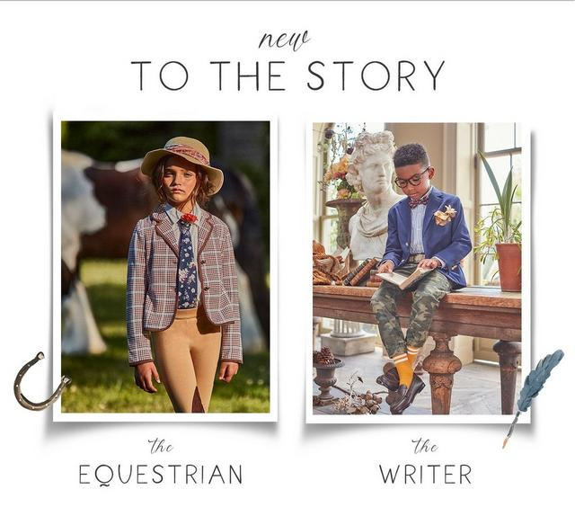 New to the story: meet the Equestrian, the Writer, the Traveler & the Photographer wearing Janie and Jack fall collections.