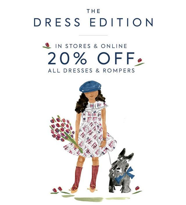 20% off all dresses and rompers. Shop the event.
