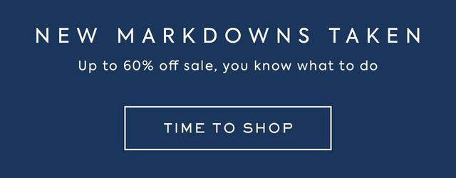 New Markdowns Taken